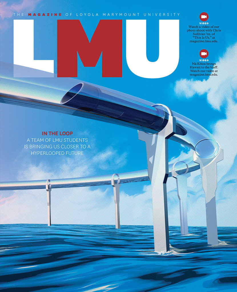Summer 2018 cover showing an illustration of the hyperloop